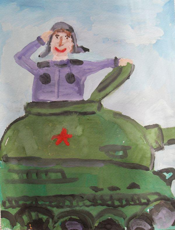 Рисуем танкистов