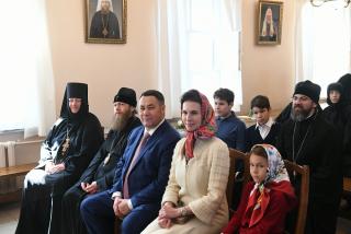 В праздник Светлой Пасхи губернатор Тверской области посетил Тверской Вознесенский Оршин монастырь